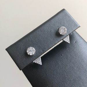 Pave Double Studs